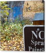 No Spray Painting Canvas Print