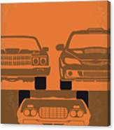 No207-4 My Fast And Furious Minimal Movie Poster Canvas Print