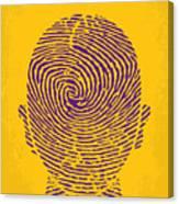 No439 My The Bourne Identity Minimal Movie Poster Canvas Print