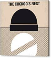 No454 My One Flew Over The Cuckoos Nest Minimal Movie Poster Canvas Print