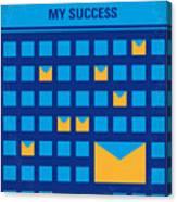No464 My The Secret Succes Minimal Movie Poster Canvas Print