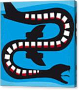 No501 My Snakes On A Plane Minimal Movie Poster Canvas Print