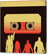 No812 My Guardians Of The Galaxy Minimal Movie Poster Canvas Print