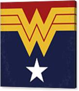 No825 My Wonder Woman Minimal Movie Poster Canvas Print