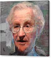 Noam Chomsky Portrait 1059 Canvas Print