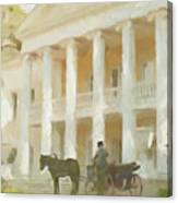Noble Mansion Of The 19th Century In Russia Canvas Print