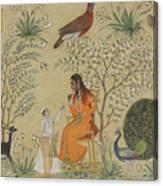 Noble Woman In A Garden Canvas Print