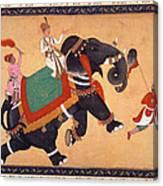 Nobleman Riding Elephant Canvas Print