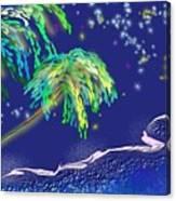 Noche Tropical Canvas Print