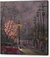 Nocturne In Lavender Canvas Print