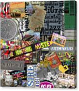 Nola Collage Art Shotgun House Canvas Print