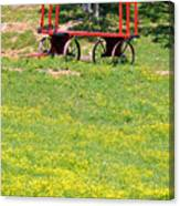 None Of Your Red Wagon Canvas Print