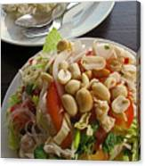 Noodles With Crab Meat And Peanuts Canvas Print
