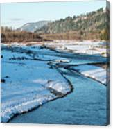 Nooksack River On A December Afternoon Canvas Print