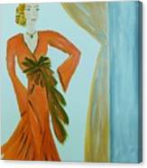 Nora-an Art Deco Lady Canvas Print