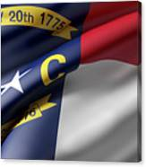 Norh Carolina State Flag Canvas Print