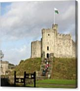 Norman Keep At Cardiff Castle Canvas Print