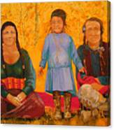 North American Native Family  Canvas Print