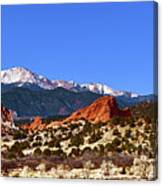 North And South Gateway Rock Canvas Print