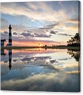 North Carolina Bodie Island Lighthouse Sunrise Canvas Print
