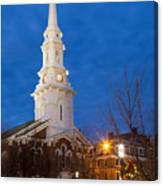 North Church At Twilight, Portsmouth, New Hampshire Canvas Print