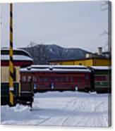 North Conway Nh Scenic Railroad Canvas Print