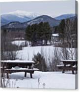 North Conway Winter Mountains Canvas Print