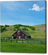 North Dakota Barn Canvas Print