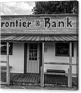 North Dakota Frontier Bank Canvas Print