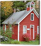 North District School House - Dorchester New Hampshire Canvas Print