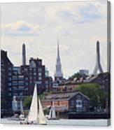 North End  Of Boston  Canvas Print