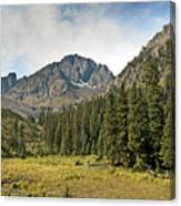 North Face Of Mount Sneffels Above Blaine Basin In The San Juan Mountains Of Colorado Canvas Print