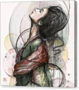 Beautiful Lady Canvas Print