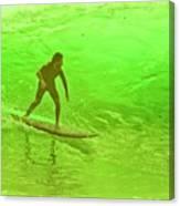 North Shore Green Canvas Print