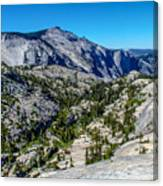North Side Of Half Dome Valley Canvas Print