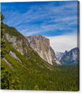 North Side Of South Valley Of Half Dome Canvas Print