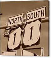 North South 1 Canvas Print