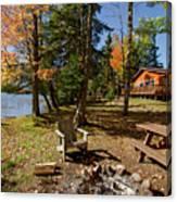 North Woods Lake Three Canvas Print