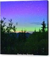 Northern Lights At Mount Pilchuck Canvas Print