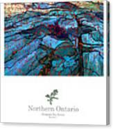 Northern Ontario Poster Series Canvas Print