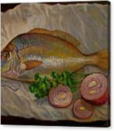 Northern Scup With Dill Onion Canvas Print