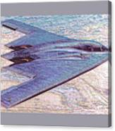 Northrop Grumman B-2 Spirit Stealth Bomber Enhanced With Double Border II Canvas Print