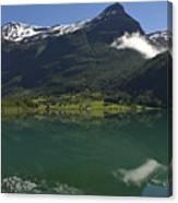 Norway, Briksdal Glacier At Jostedal Canvas Print