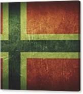Norway Distressed Flag Dehner Canvas Print