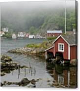 Norway, Fishing Village Canvas Print