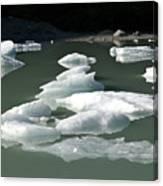 Norway, Iceberg Floating On Water Canvas Print