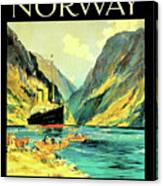Norway Orient Cruises, Vintage Travel Poster Canvas Print