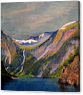 Norwegian Fjord  Canvas Print
