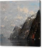Norwegian Fjord Landscape Canvas Print