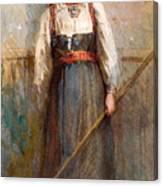 Norwegian Girl Canvas Print